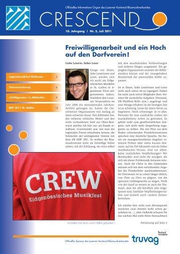 Ausgabe 03/2011 - Luzerner Kantonal-Blasmusikverband
