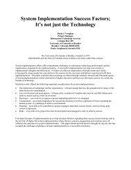 System Implementation Success Factors: It Is Not Just ... - Educause