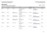 Adressliste - Schweizerische Steuerkonferenz