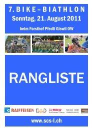 7. Bike-Biathlon Giswil - ALGE-TIMING Schweiz