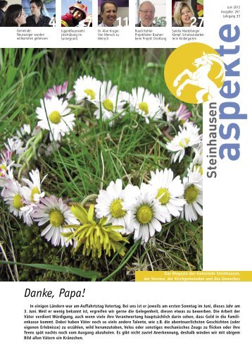 Ausgabe 06/2012 - Aspekte Steinhausen