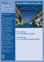 Swiss Medical Informatics SMI 69 - SGMI