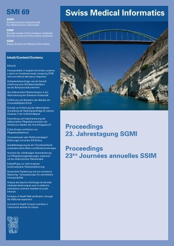 Swiss Medical Informatics SMI 69 - SGMI