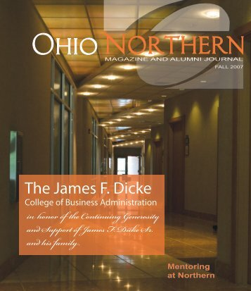 The James F. Dicke - Ohio Northern University