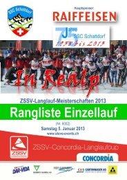 ZSSV-Langlauf-Meisterschaften 2013 Rangliste Einzellauf