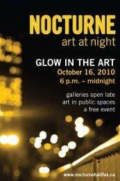 GLOW IN THE ART October 16, 2010 - Art Gallery of Nova Scotia