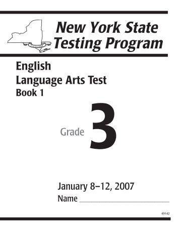 2011 Grade 4 New York English Language Arts Test