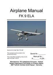 FK9 ELA LSA Flight Manual - FK-Lightplanes