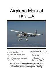 FK9 ELA Flight Manual (English) - FK-Lightplanes