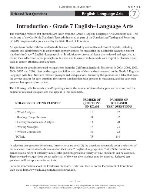 Grade 7 english