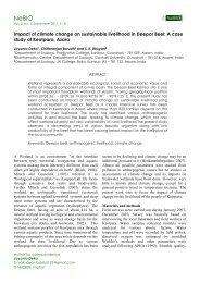 Impact of climate change on sustainable livelihood in Deepor Beel ...