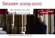 Seizoen 2009-2010 - Nederlandse Bachvereniging