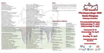 KRV Brandis Pferdesporttage 2009 Hasle-Rüegsau ... - ah,ja!