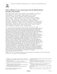 Initial validation of ozone measurements from the High - Microwave ...