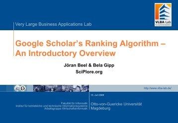 Google Scholar Presentation-101259.pdf - ISSI 2009