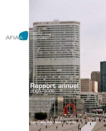 Rapport annuel - AFIAA