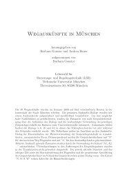 Wegauskünfte in München - LSR