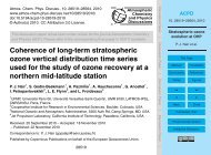 Coherence of long-term stratospheric ozone vertical ... - ACPD