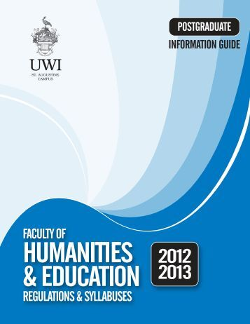 Faculty of Humanities and Education (Postgraduate) - The University ...