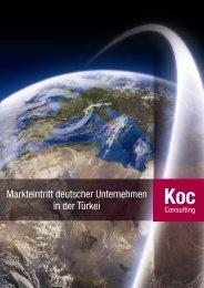 Markteintritt deutscher Unternehmen in der Türkei - Koc-Consulting