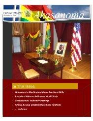 2012 newsletter click here - Ghana