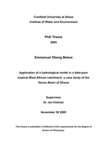 Cranfield msc thesis