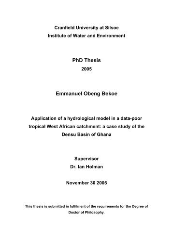 PhD Thesis Emmanuel Obeng Bekoe - Cranfield University