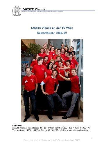 ausländische Praktikanten - IAESTE Vienna - IAESTE Austria