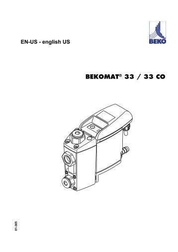 english US BEKOMAT® 33 / 33 CO