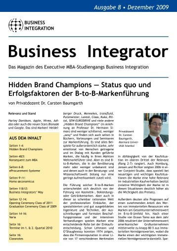 Business Integrator - Carsten Baumgarth