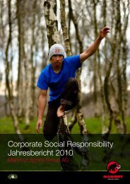 Corporate Social Responsibility Jahresbericht 2010 - Mammut