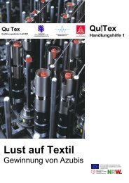 Lust auf Textil – Gewinnung von Azubis für die ... - ZiTex