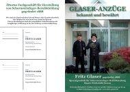 Glaser-anzüGe