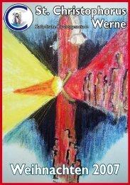 Weihnachtspfarrbrief 2007 - Pfarramt St. Christophorus