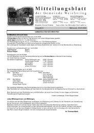 Ausgabe 6 Mittwoch, 19.03.2008 - Weichering