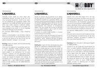 Istruzioni per l'uso / Liquizell - Dohse Aquaristik KG