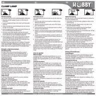 Istruzioni per l'uso / Clamp Lamp - Dohse Aquaristik KG