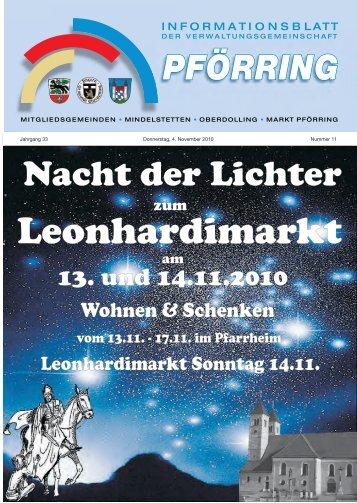 Informationsblatt-2010-11 - Markt Pförring