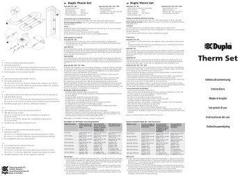 Istruzioni per l'uso / Therm Set - Dohse Aquaristik KG