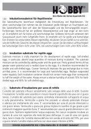 Istruzioni per l'uso / Vermiculit - Dohse Aquaristik KG