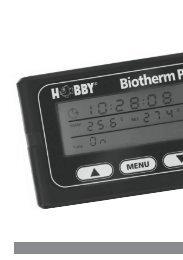 Gebrauchsanweisung HOBBY Biotherm pro - Dohse Aquaristik KG