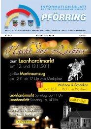 Informationsblatt-2011-11 - Markt Pförring