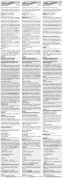 Modes d'emploi / Système d'engrais Dupla - Dohse Aquaristik KG