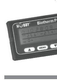Gebrauchsanweisung HOBBY Biothermpro - Dohse Aquaristik KG
