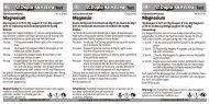 Magnesium Magnesium Magnesio - Dohse Aquaristik KG
