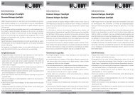 Istruzioni per l'uso / Diamond Halogen - Dohse Aquaristik KG