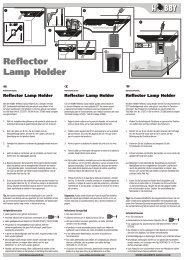 Modes d'emploi / Reflector Lamp Holder - Dohse Aquaristik KG