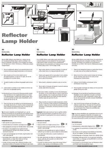 Modes d'emploi / Reflector Lamp Holder - Dohse Aquaristik KG