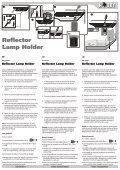 Modes d'emploi / Reflector Lamp Holder - Dohse Aquaristik KG - Page 2