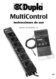 MultiControl Instrucciones de uso - Dohse Aquaristik KG